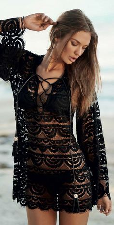 Swimsuits & Cover Ups – Lady Dress Designs Bohemian Mode, Bohemian Style, Bohemian Gypsy, Hippie Style, Boho Fashion, Fashion Outfits, Fashion Design, Style Fashion, Girl Fashion