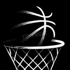 Basketball vector via MuralsYourWay.com
