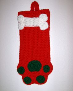 Adorable Red  Christmas Stocking or Dog by MissyOodlesCreations, $12.00