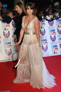 Leading lady: Brooke Vincent joined a host of big names at the 2017 Pride of Britain Awards on Monday - hours after being confirmed as the first celebrity on the Dancing On Ice line-up