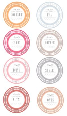 FREE printable jar tags