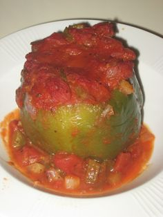Stuffed Green Peppers with Quinoa...a new twist on an old favorite!
