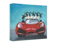 Lamb-O-Ghini Canvas at Whistlefish Galleries - por Gerry Plumb