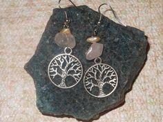 Splendid Silver Tree of Life  Rose Quartz  Heart by MoodTherapy, $9.95