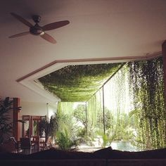 Incorporated greenery.  Gorgeous!