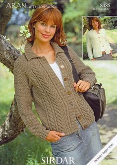 Cardigans in Sirdar Aran - 8485. Discover more Patterns by Sirdar at LoveKnitting. The world's largest range of knitting supplies - we stock patterns, yarn, needles and books from all of your favourite brands.