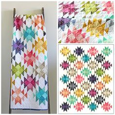 Ombre Confetti - Dude Ranch Quilt Pattern - V and Co. - Moda Finished Size: 56 x Dude Ranch uses all 20 colors of V and Co Ombre Confetti! Quilting Tips, Hand Quilting, Quilting Projects, Quilting Designs, Modern Quilting, Quilt Design, Longarm Quilting, Quilting Fabric, Quilting Tutorials