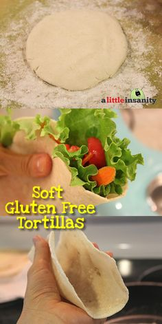 Soft Gluten Free Tortilla Recipe that's also Vegan! Perfect for wrapping soft tacos, burritos, enchiladas & quesadillas!