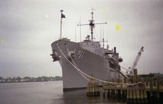 USS Fulton, State Pier New London CT....my husband was assigned to this ship in the early '70s