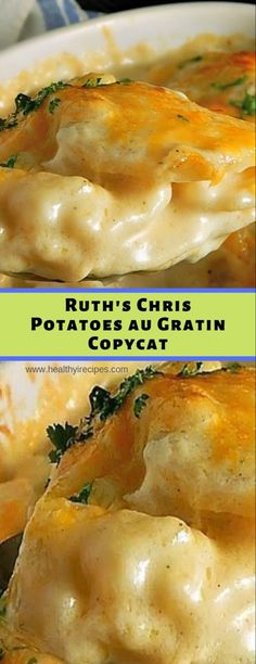 Ruth's Chris Potatoes au Gratin Copycat – Healthy Recipes - New Site Healthy Recipes, Vegetable Recipes, Cooking Recipes, Best Potato Recipes, Salad Recipes, Diner Recipes, Restaurant Recipes, Copycat Recipes, Potato Side Dishes