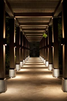 Dynamic lighting sets the tone for a peaceful walk back to your room #NIZUCresort