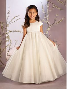 Find More Flower Girl Dresses Information about New Cap Sleeve Tulle Long Flower Girls Dresses For Weddings 2016 First Communion Dresses Little Girls Kids/Children Dress,High Quality dress party girl,China dresse Suppliers, Cheap girls dresses 7-16 from Galaxy Wedding Dress Co., Ltd. on Aliexpress.com