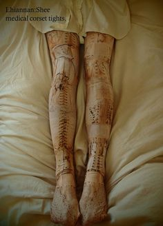 "Lhiannan:Shee""medical corset tights"" 