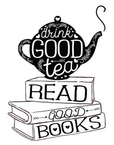 Drink Good Tea, Read Good Books Art Print by Evie Seo | Society6