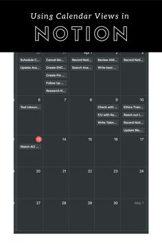 Want to add a calendar view of your Notion database or table but not sure how? This comprehensive guide with screenshots of every step in the process will teach you all you need to know! Productivity In The Workplace, Productivity Apps, Time Management Apps, Knowledge Worker, Create A Calendar, Office Suite, How To Stop Procrastinating, Evernote, Dashboards