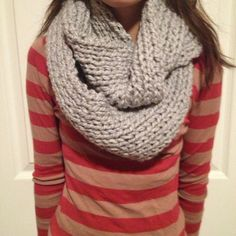 Chunky infinity scarf by QQKnits on Etsy, $25.00