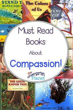 Kindergarten Planet: Must Read Monday: Books About Teaching Compassion