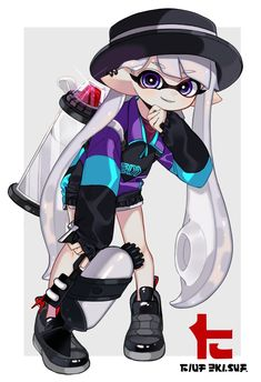 Splatoon Squid, Nintendo Splatoon, Splatoon 2 Art, Splatoon Comics, Character Art, Character Design, Cyberpunk Anime, Nintendo Super Smash Bros, Drawn Art