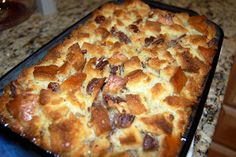 Butterscotch Pecan Bread Pudding recipe (with #Bourbon)