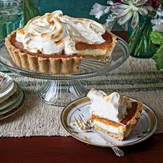 Perfect Pumpkin Pie Recipes: Pumpkin Cheesecake Tart with Honey Swiss Meringue