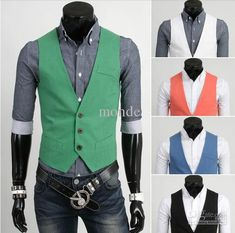 2013 new arrive men's vest casual mens vest 5 colurs green 2879