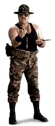 Sgt. Slaughter  From: Parris Island, S.C.  Signature Move: Cobra Clutch  Career Highlights: WWE Champion