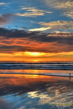 Sunset over Pismo Beach by Amy Joseph of www.CentralCoastPictures.com.  Prints available. Pismo Beach, Avila Beach, Central Coast, Joseph, Amy, Landscapes, Celestial, Sunset, Places