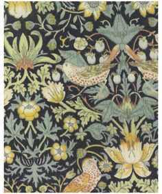 Strawberry Thief F Tana Lawn, Liberty Art Fabrics - My all time favorite Liberty print.  Based on an 1883 Upholstery fabric designed by William Morris.