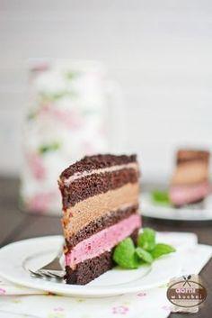 Tort malinowo-czekoladowy Polish Desserts, Polish Recipes, Cake Cookies, Cupcake Cakes, British Cake, Communion Cakes, Different Cakes, How Sweet Eats, Good Food