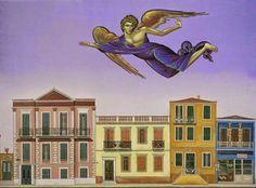 Βλάσης Τσοτσώνης Modern Art, Contemporary Art, Greece Painting, Byzantine Art, 10 Picture, Greek Art, Conceptual Art, Printmaking, Folk