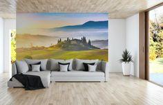 Papier peint en guise de tableau de salon