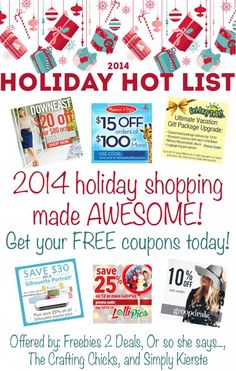 Free Must-Have Holiday Coupons for the Hottest Deals! - Or so she says...
