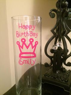 Birthday Candy Jar Decal only $5