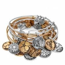 Beautiful silver or russian gold expandable made in america bangles.