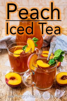 A light and refreshing homemade peach iced tea to cool you during those warm summer months. Easy to make and one that will rival any Lipton or Starbucks version. Sweetened with honey so it's sugar free and it's easy to add alcohol to make a lovely summer cocktail. #icedtea #coldbrew #drink #icedtearecipe