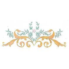 Furniture Stencils   Small 19th Century Centerpiece   Royal Design Studio Stencils