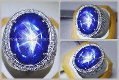 Super Elegant Blue Kasmir SAFIR Star Big Size NH  - SPS 153 + Sertifikat