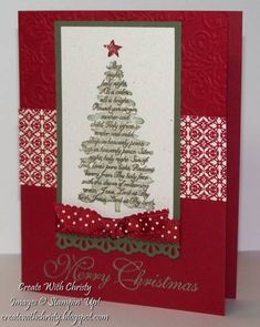 Simple Evergreen Card by StampinChristy - Cards and Paper Crafts at Splitcoaststampers