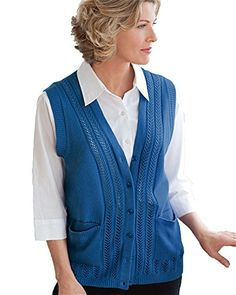 National Classic Sweater Vest, Denim Blue, 3X   Special Offer: $34.95      399 Reviews National's Classic Sweater Vests are the vest version of our best-selling Classic Cardigan Sweater. Available in a rainbow of colors, these sweater vests are made of easy-care acrylic and feature...
