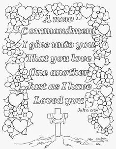 Love One Another Bible Verse Coloring Page See More Like It At My Blog PagesFree Printable