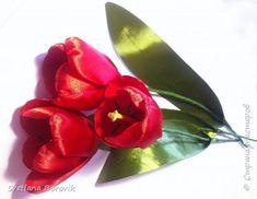 Тюльпаны из ленты своими руками 261