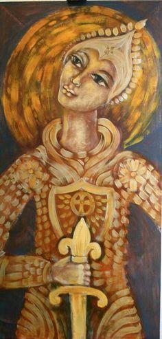 Giovanna d'Arco - #Eroina nazionale francese, riuscì a riunire parte del territorio caduto in mani inglesi e a risollevare le sorti del Paese durante la #guerradeicentanni.