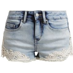Even&Odd Denim shorts denim ($29) ❤ liked on Polyvore featuring shorts, bottoms, pants, short, light blue, zipper pocket shorts, pocket shorts, light blue jean shorts, tall shorts and short shorts