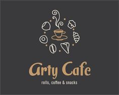 Arty Cafe Logo design - Logo can be used for bakery, restaurant, cafe, or creperies, most retro cafes... Stores with snacks, selling the coffee etc...<br /><br /><br />Free business card included with the logo, and ready for printing.<br /><br />Do not hesitate, feel free to make any offer.<br /><br />Logo comes with AI file, and Bussines card is also AI. Price $1000.00