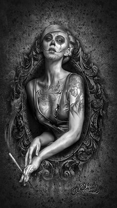 Dark Dead - day of the dead art by Digoil, on canvas. digoilrenowned.com