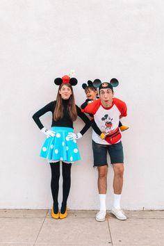 How To Make A Mickey + Minnie Mouse Family Costume   studiodiy.com