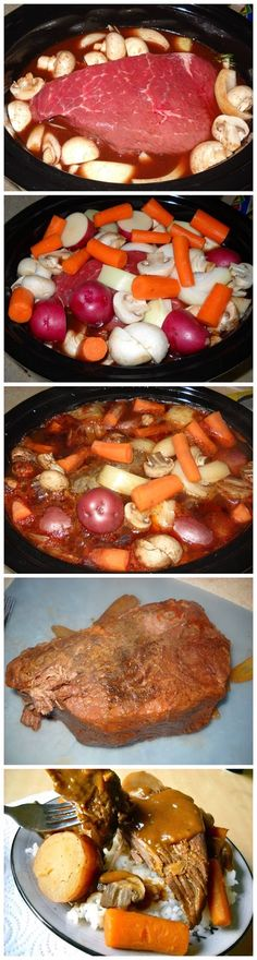 Pot Roast Dinner. . .I always brown my roast 1st!