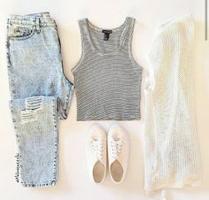 Find images and videos about fashion, cute and style on We Heart It - the app to get lost in what you love. Casual Outfits, Cute Outfits, Fashion Outfits, Womens Fashion, Casual Clothes, Ootd Fashion, Spring Summer Fashion, Spring Outfits, Spring Style
