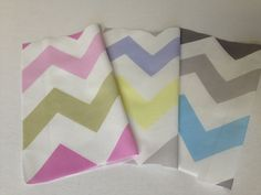 New pastel Chevron prints by Stickelberry Available on Spoonflower.com #fabric #wallpaper #wrapping paper