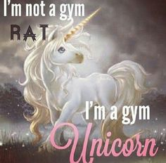 Gym unicorn not a gym rat Fit Girl Motivation, Fitness Motivation Quotes, Health Motivation, Fitness Humor, Crossfit Motivation, Funny Fitness, Fitness Fun, Fitness Gear, Workout Fitness